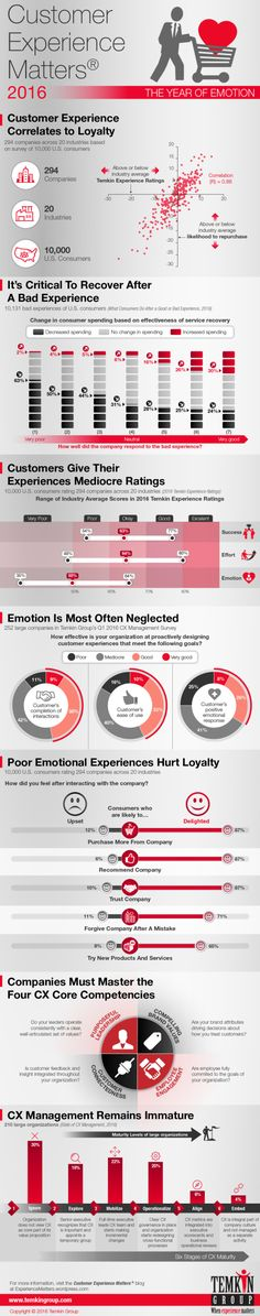Temkin Group Q1 2016 CX (customer experience) Management Survey infographic