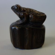 Two Vintage Chinese carved wood Netsuke by GARCIAHOUSE on Etsy