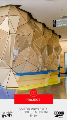 Curtin University School of Medicine Concrete Facade, Precast Concrete, Timber Slats, Curved Walls, Learning Environments, 3d Wall, Interior Architecture, Lamps, Medicine