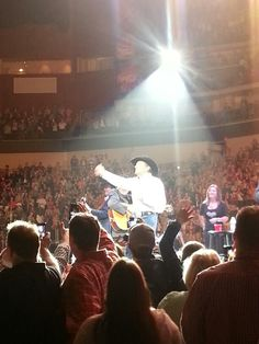 GEORGE STRAIT!  I finally go to see him in concert in Des Moines.  It was awesome.