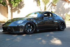 350z - Black on black TE37
