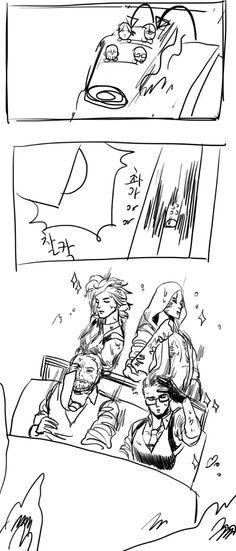 Kidman, Ruvik, Sebastian and Joseph <-everyone's so fabulous...well except for Sebastian that is XD