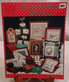 A Cross My Heart Christmas Santa Counted Cross Stitch Patterns 19 Patterns #CrossMyHeart #Frame