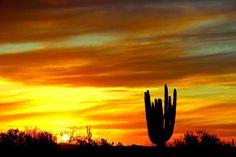 Sunset In Beautiful Cave Creek Arizona 3-28-13