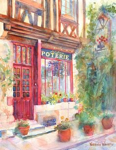 Europe de David 2 A & C Squire Poterie  Giclee par YevgeniaWatts