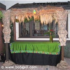 thatched roof  Tiki Bar