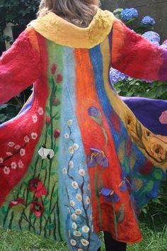 colorful felt coat