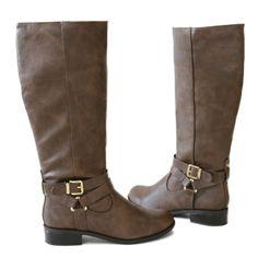 hiro-light brown-knee high boots $30.70 via @shopseen