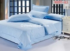 Sky Blue Hotel Collection Bedding Sets - $88.99 : Colorful Mart, All for Enjoyment Hotel Collection Bedding, Bedding Sets, Duvet Covers, Pillow Cases, Sky, Colorful, The Originals, Luxury, Modern