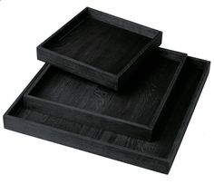 Tray in black stained oak by H Skjalm P. Size: Medium D 30 x H 30 cm, Large D 40 x H 40 cm Dish Detergent, Dishwasher Detergent, Black Stains, Washing Dishes, Bathroom Renovations, Biodegradable Products, Home And Living, Box, Design
