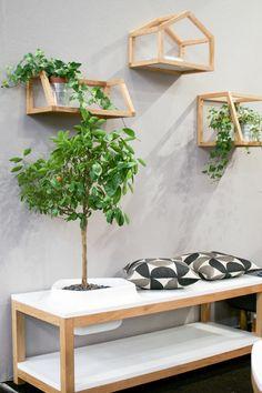 gartenmöbel set holz wandregale für pflanzen