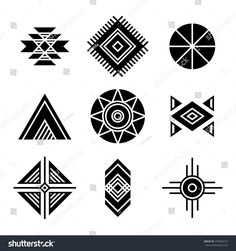 Geometric shapes icons isolated on white Native American Indians Tribal Symbols Set. Geometric shapes icons isolated on white Native Symbols, Indian Symbols, Tribal Symbols, Geometric Symbols, Native Art, Geometric Shapes, Geometric Designs, Tribal Designs, Native American Patterns