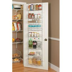 This would work on the back of my laundry room door - ClosetMaid Adjustable Door Rack Pantry Door Storage, Pantry Organization, Kitchen Storage, Pantry Ideas, Diy Organisation, Organising, Food Storage, Organization Ideas, Kitchen Ideas