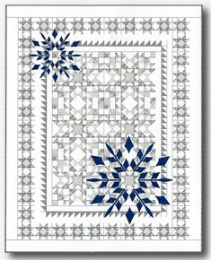 Sewing Quilts Winter Joy Quilt Pattern - Do you love winter but not the cold? Experience the beauty of winter with this stunning pieced quilt layered with easy to applique snowflakes. Finished size - 68 inches x 86 inches. Sampler Quilts, Star Quilts, Mini Quilts, Quilt Blocks, Christmas Quilt Patterns, Star Quilt Patterns, Embroidery Patterns, Texas Star, Sewing Patterns Girls