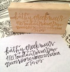 Custom Calligraphy Address Stamp from HardinKCalligraphy  #photogpinspiration