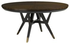 Aquarius Spectrum Round Dining Table in Walnut Finish - transitional - Dining Tables - Cymax