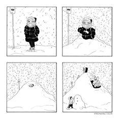 c-cassandra: Let it snow. C Cassandra Comics, Cassandra Calin, Let It Snow, Let It Be, Sundae Kids, Tastefully Offensive, First World Problems, Old Comics, Canadian Artists