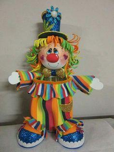 Circus 1st Birthdays, Carnival Birthday Parties, Circus Birthday, Foam Sheet Crafts, Foam Crafts, Clown Party, Circus Party, Hobbies And Crafts, Diy And Crafts