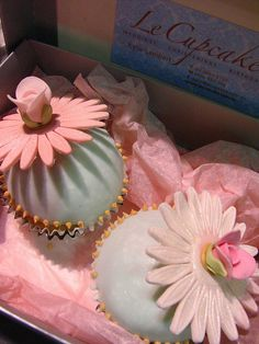 cupcakes for Bridal expo (from my signature collection) by kylie lambert (Le Cupcake), via Flickr