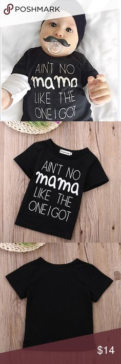 Ain't No Momma - Baby T Adorable unisex baby T - three sizes available. All boutique items are new. floral pig Shirts & Tops Tees - Short Sleeve