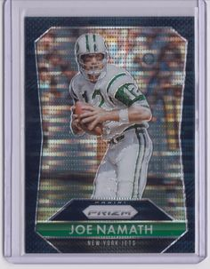 Black Finite - 2015 Prizm Football Joe Namath True 1 of 1 Card NY Jets Broadway #AFLNFLNewYorkJets @PaniniAmerica, @nyjets, @NFL