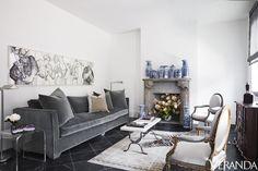Sophisticated Monochromatic Living Room  - Veranda.com