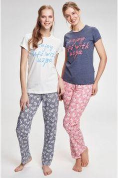 U.S. Polo Assn. Kadın Ekru Patlı Pijama Takımı #modasto #giyim #moda https://modasto.com/u-ve-s-ve-polo-ve-assn/kadin/br14948ct2