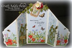 Card made by Nicole Dieltjes van Poppel with CraftEmotions Poppie Fields Collection.