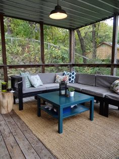 Screened In Porch Sprucing | One Project at a Time - DIY Blog