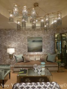 Amazing light fixture, very very interesting!! Grizzell and Mann- Amy Vermillion Interiors Blog- Allan Knight