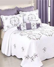 Modern Heirloom Collection Gwen Quilted Bedspread Queen WHITE W005