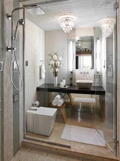 W Boston contemporary bathroom