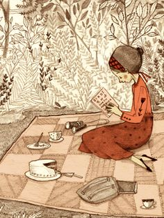 Pure enjoyment! / Puro placer! (ilustración de Abigail Halpin)