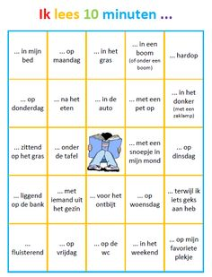 Dit krijgen de kinderen elke vakantie mee naar huis. Enkele vakken pas ik soms aan, zoals: '... onder de kerstboom' of '... aan mijn sneeuwpop voor' Educational Activities, Activities For Kids, Reading Bingo, Learn Dutch, Live Life Love, Dutch Language, Home Schooling, Kids House, Spelling