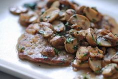 Sauteed Veal Cutlets with Mushrooms and White Wine http://www.cookthink.com/recipe/7821/Sauteed_Veal_Cutlets_With_Mushrooms_And_White_Wine