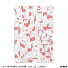 Ellipsen Kreise handgemacht Zeichnung Hülle Für iPad Mini