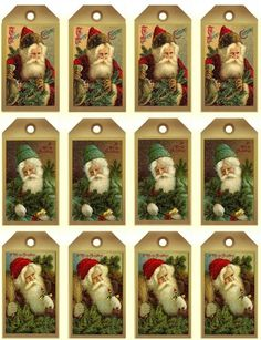 Free Vintage Santa Printables Including Recipe Cards and Tags More