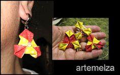 Artesanato com amor...by Lu Guimarães: Fuxico com 2 triângulos