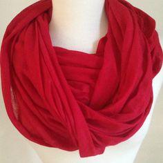 New Red Infinity Scarf - $15 http://www.threadflip.com/justbellas