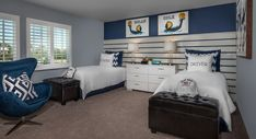 Residence Four at Meadow Creek in Moreno Valley. This floorplan definitely BLUE us away! Home Buying Process, Two Story Homes, New Homes For Sale, Bedroom Styles, Building A House, Living Spaces, Sweet Home, Floor Plans