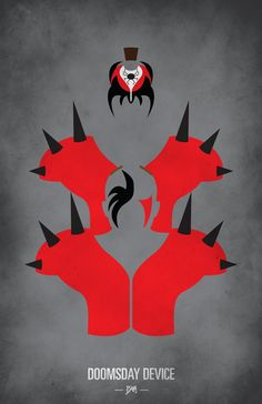 WWF Legends Minimalist Poster - 'Road Warriors / Legion of Doom'