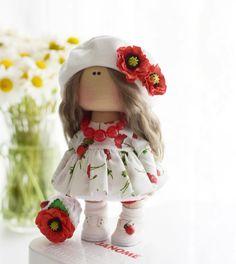Pretty Dolls, Cute Dolls, Felt Dolls, Minnie, Diy Doll, Fabric Dolls, Doll Clothes, Harajuku, Diy And Crafts
