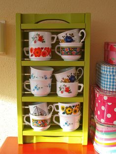 Rearranging by *Mirre*, via Flickr  I love the cups