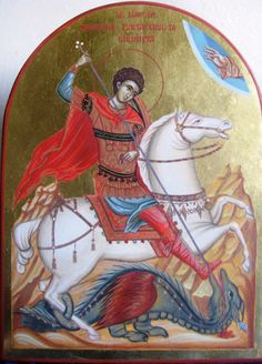 knight slaying dragon   Paintings showing St. George slaying a dragon (a devil, a reptilian ...