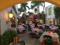 Renato's al fresco dining is perfect for a romantic evening. Palm Beach Restaurants, Romantic Evening, Beach Bars, Al Fresco Dining, Coconuts, Be Perfect, Table Decorations, Furniture, Home Decor