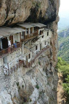 Greece Travel Inspiration - St John the Prodrome's Monastery - Arcadia, Greece (by Yiannis_the greek).