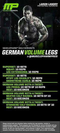 MusclePharm German Volume Legs