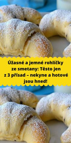 Sweet Recipes, Healthy Recipes, Good Food, Yummy Food, Czech Recipes, Pavlova, Cookie Desserts, Desert Recipes, Food Hacks