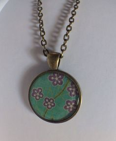 Antique Brass Vintage Flower Necklace 24 Inches by RoseyJohnny, $4.97