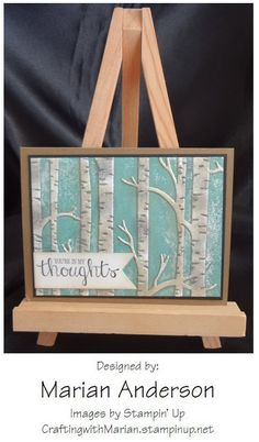 Woodland embossing folder by Stampin' Up.